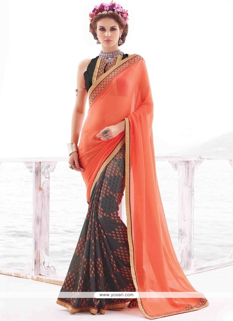 Winsome Multi Colour Georgette Casual Saree