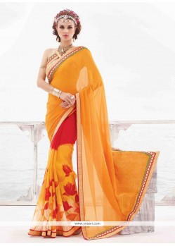 Heavenly Multi Colour Print Work Casual Saree