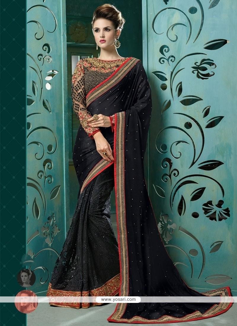 Glorious Designer Saree For Reception