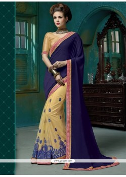Aristocratic Blue Designer Saree