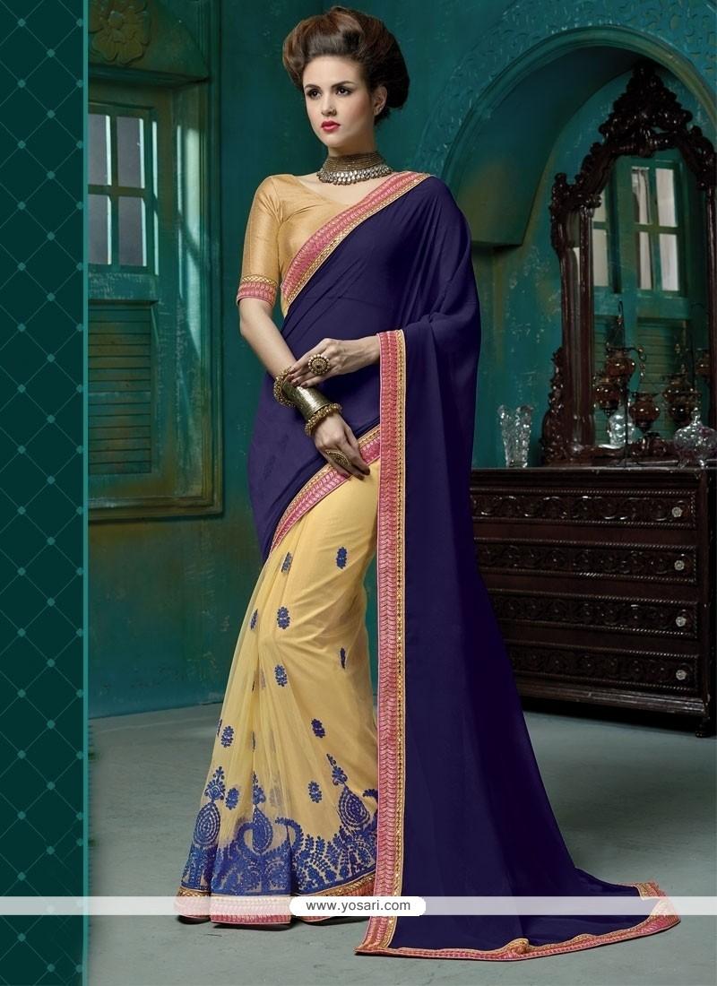 Aristocratic Blue Designer Saree
