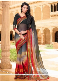 Suave Satin Multi Colour Designer Saree