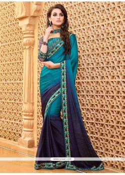 Fascinating Embroidered Work Designer Saree