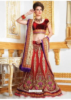 Amazing Resham Enhanced Net Lehenga Choli
