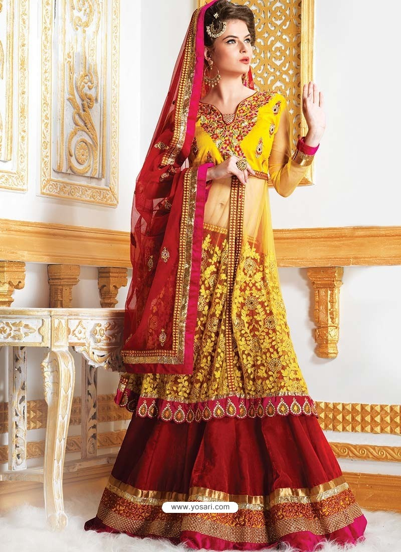 Fab Embroidered Net Lehenga Choli