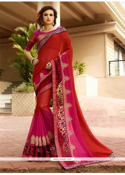 Peppy Georgette Designer Saree