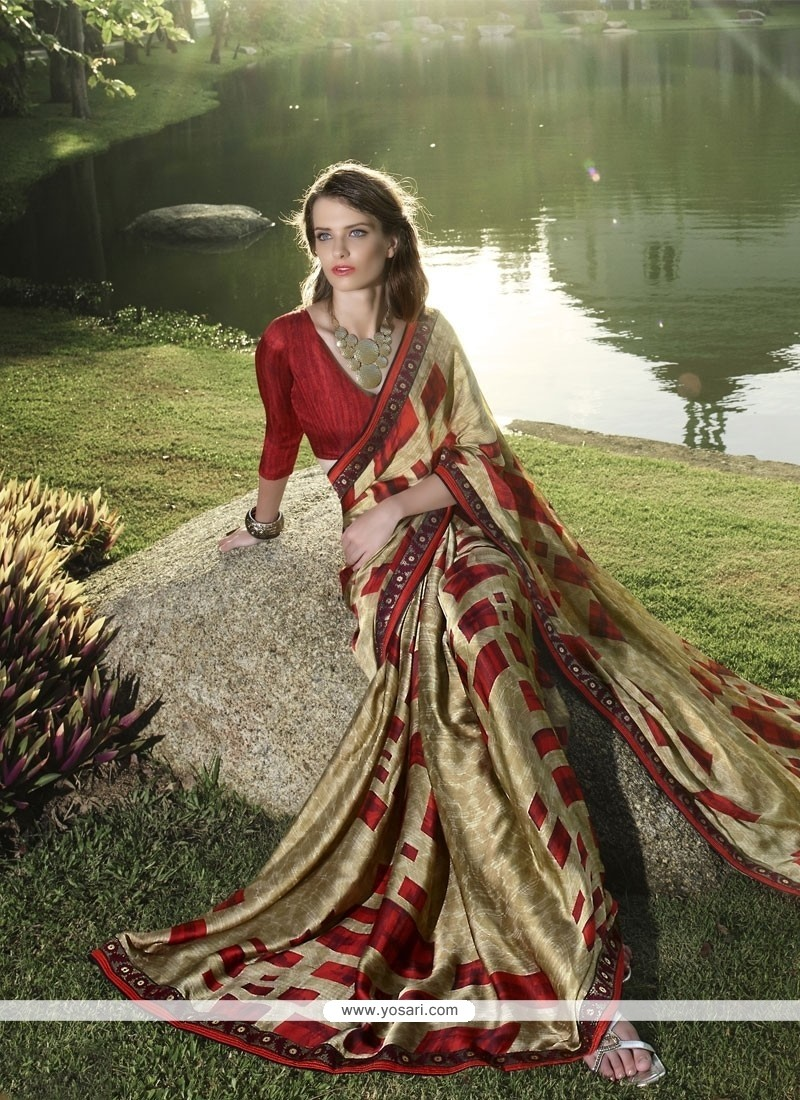 Superlative Chiffon Satin Multi Colour Casual Saree