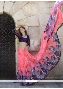 Charming Multi Colour Print Work Casual Saree