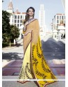 Savory Multi Colour Print Work Casual Saree