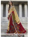 Glorious Georgette Multi Colour Print Work Casual Saree