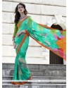 Invaluable Georgette Multi Colour Print Work Casual Saree