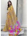Versatile Print Work Multi Colour Casual Saree