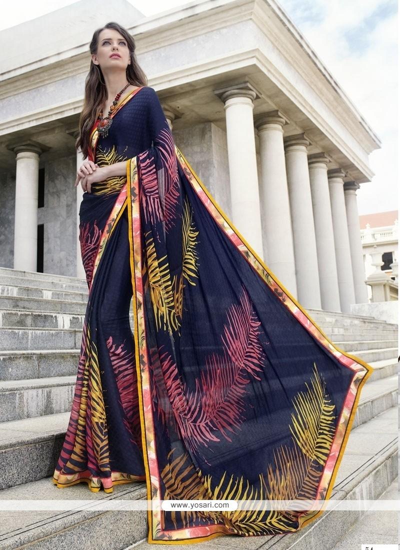 Precious Georgette Multi Colour Casual Saree