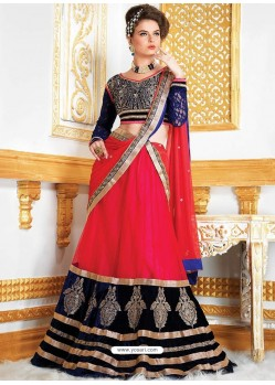 Pretty Pink Net Lehenga Choli