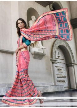 Imperial Print Work Casual Saree
