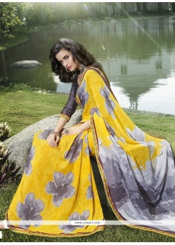 Delightful Print Work Casual Saree