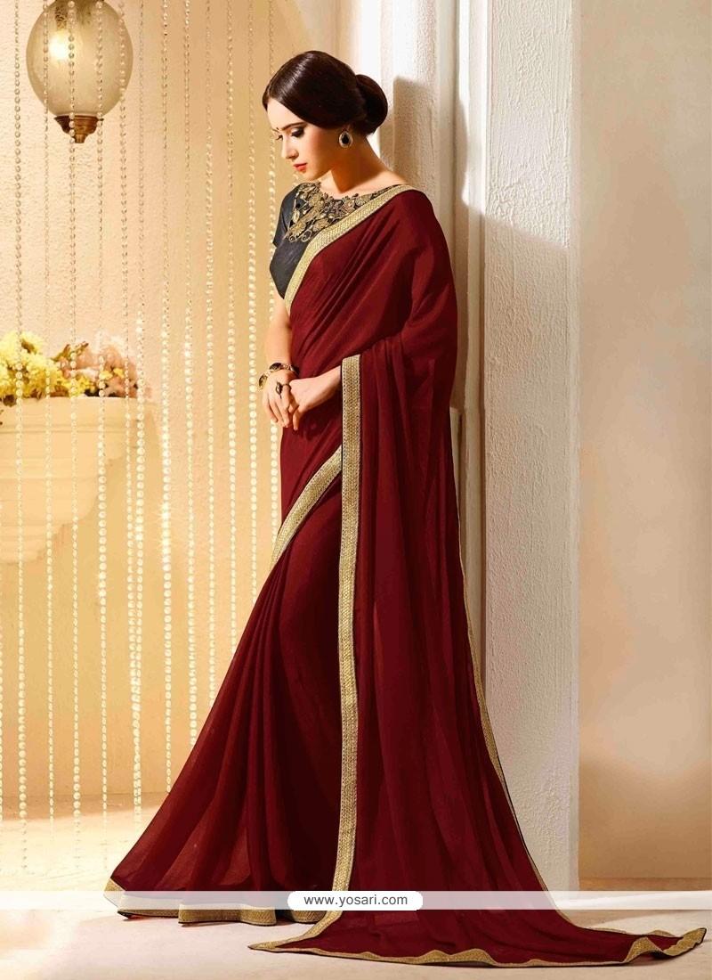 Exuberant Georgette Designer Traditional Sarees