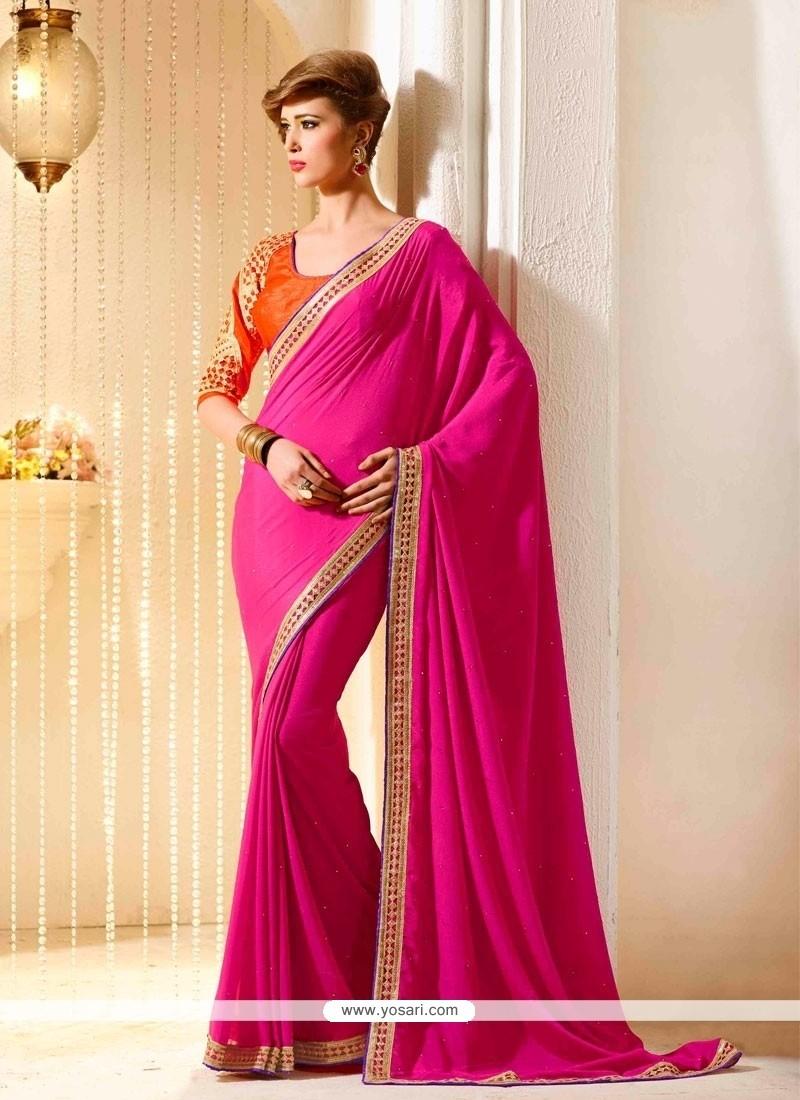 Luscious Resham Work Traditional Saree