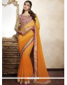 Resplendent Lace Work Designer Saree