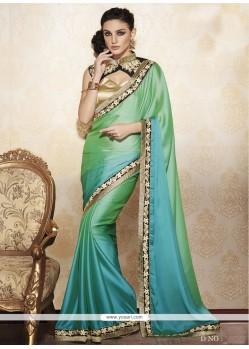 Amusing Sea Green Designer Saree
