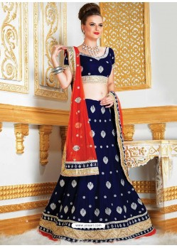 Fabulous Embroidered Velvet Lehenga Choli