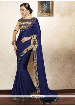 Tantalizing Blue Designer Saree