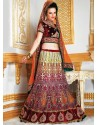 Fab Resham Embroidered Net Lehenga Choli