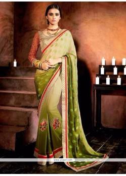 Captivating Green Designer Saree