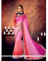 Eye-catchy Embroidered Work Georgette Designer Saree