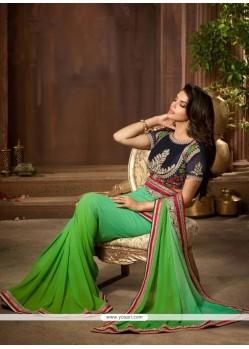 Prodigious Embroidered Work Designer Saree