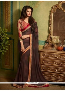 Lustre Patch Border Work Designer Saree