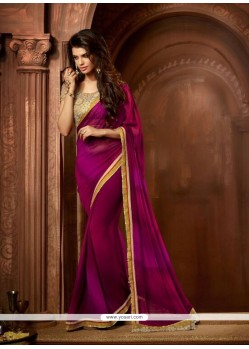 Glorious Georgette Embroidered Work Designer Saree