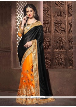 Opulent Net Black Designer Saree