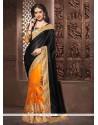 Opulent Net Black Designer Saree