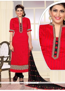 Remarkable Embroidered Work Jute Silk Designer Straight Salwar Kameez