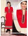 Remarkable Embroidered Work Jute Silk Designer Straight Salwar Kameez