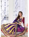 Fascinating Violet Appliqued Art Silk Lehenga Choli