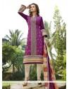 Enticing Cotton Satin Churidar Designer Suit