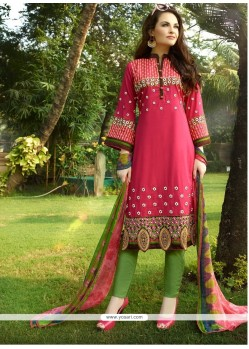 Customary Cotton Satin Churidar Designer Suit