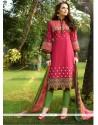 Customary Cotton Satin Churidar Designer Suit