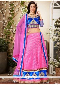 Preety Hot Pink Net Lehenga Choli