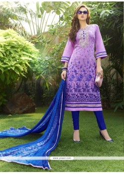 Alluring Purple Churidar Designer Suit
