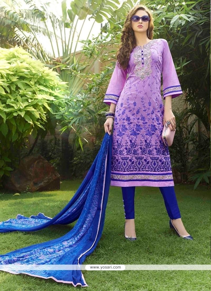 Alluring Purple Churidar Designer Suit