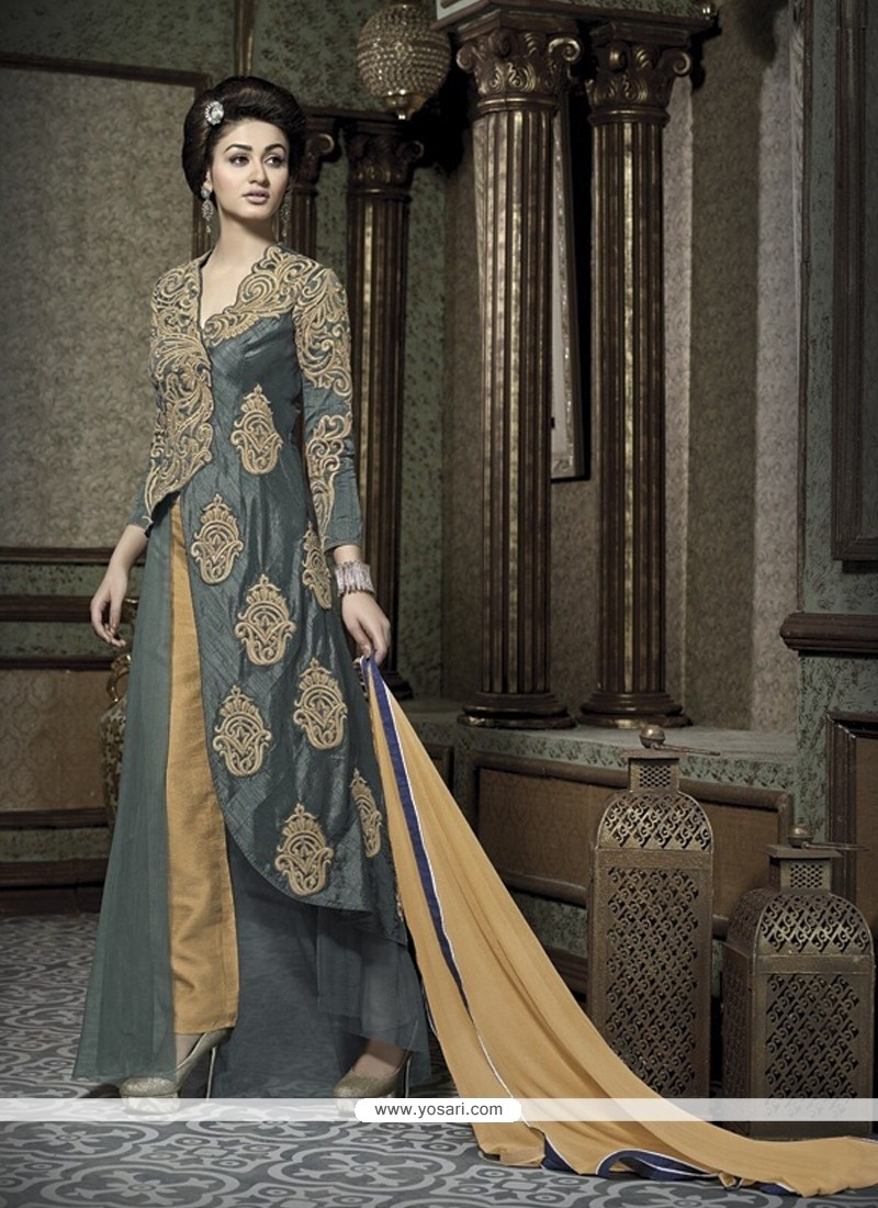 Desirable Banarasi Silk Designer Salwar Suit