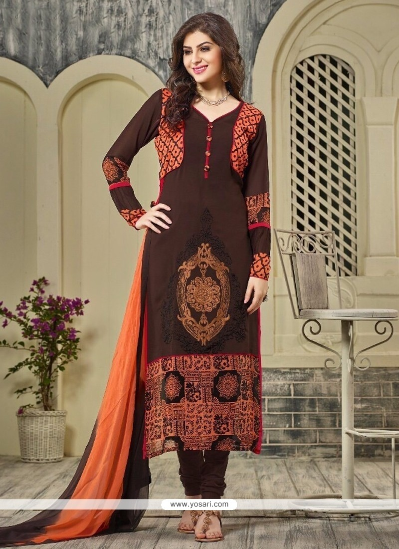 Staring Georgette Designer Straight Salwar Suit