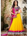 Lovely Mustard Net Lehenga Choli