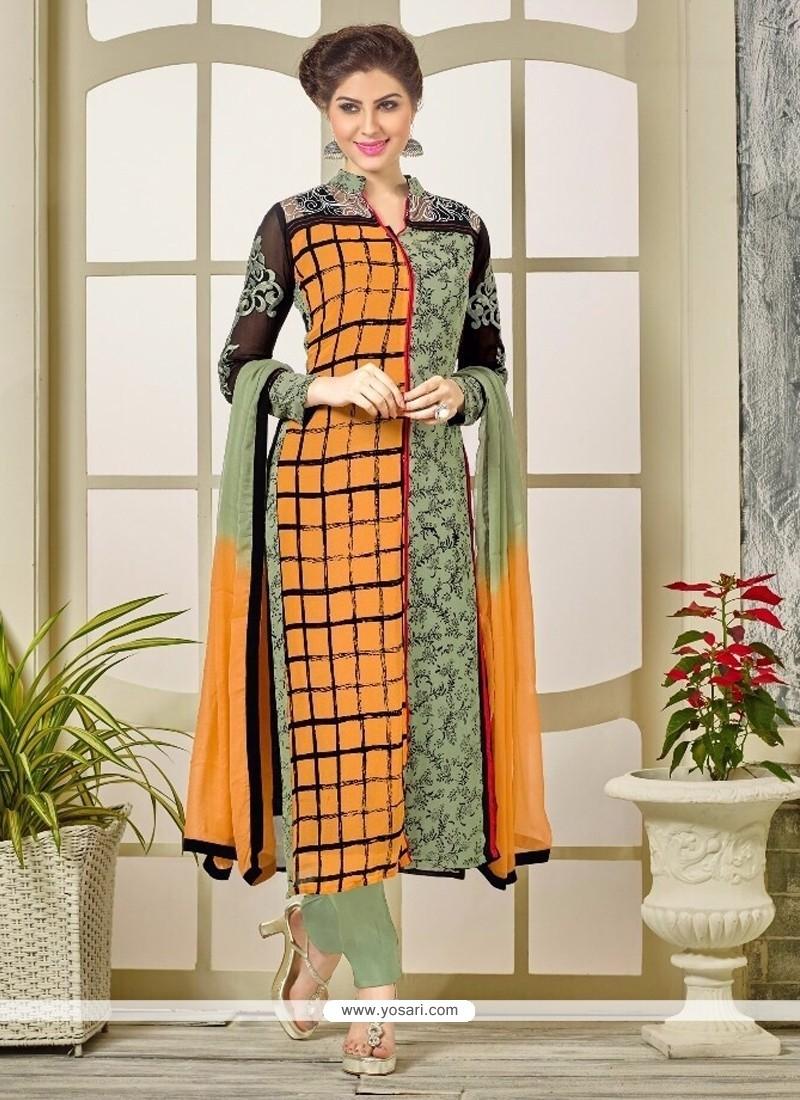 Breathtaking Embroidered Work Designer Straight Salwar Kameez