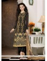 Immaculate Resham Work Black Georgette Pant Style Suit