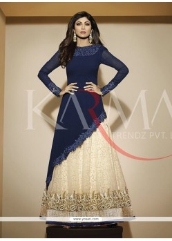 Shilpa Shetty Georgette Embroidered Work Anarkali Salwar Kameez