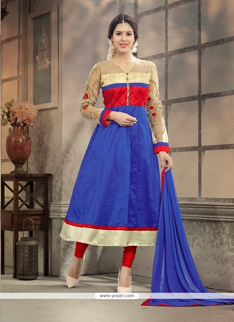 Entrancing Cotton Anarkali Suit